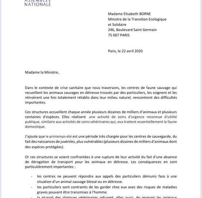 Lettre à la Ministre…